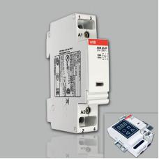 Модульный контактор ABB ESB-20-20 (20А AC1, 2НО) 220В АС
